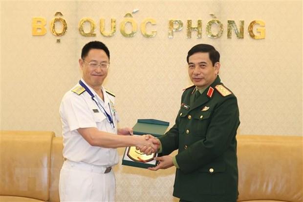Thuong tuong Phan Van Giang tiep Doan Bo Quoc phong Nhat Ban hinh anh 1