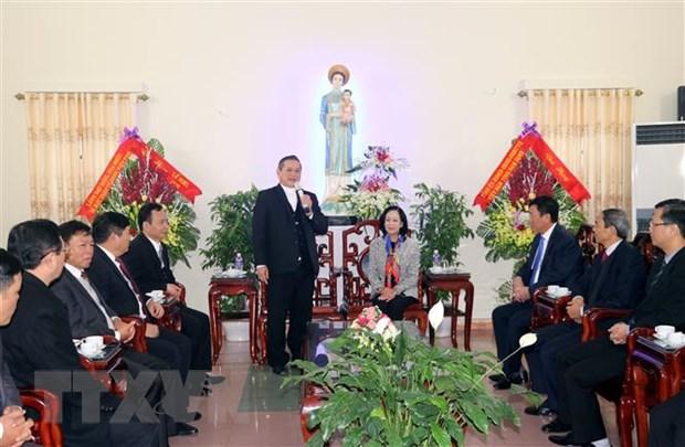 Truong ban Dan van Trung uong chuc mung Giang sinh Giao phan Bui Chu hinh anh 1
