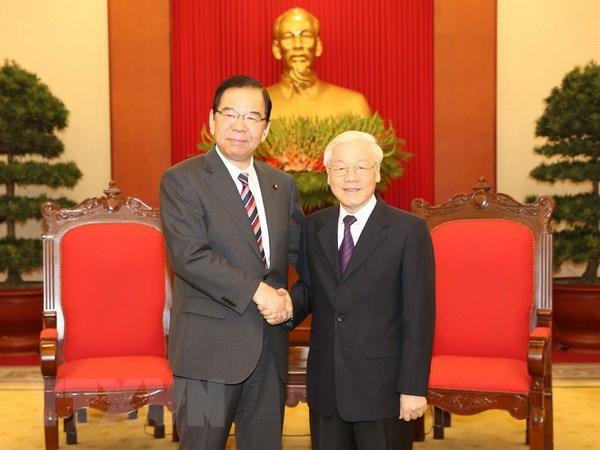 Tong Bi thu, Chu tich nuoc tiep Doan dai bieu Dang Cong san Nhat Ban hinh anh 1