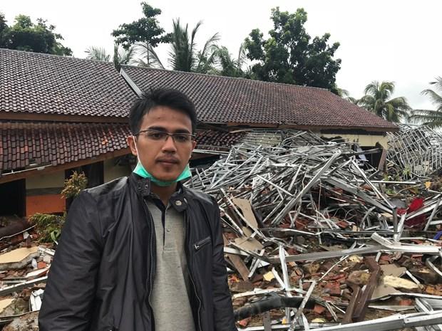 Indonesia: Khach san Stefanie kin khach khi bi song danh sap hinh anh 1