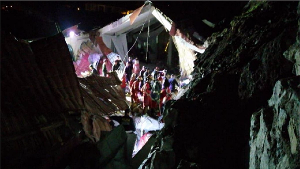 Peru: Sap tuong khach san dang to chuc dam cuoi, 15 nguoi thiet mang hinh anh 1