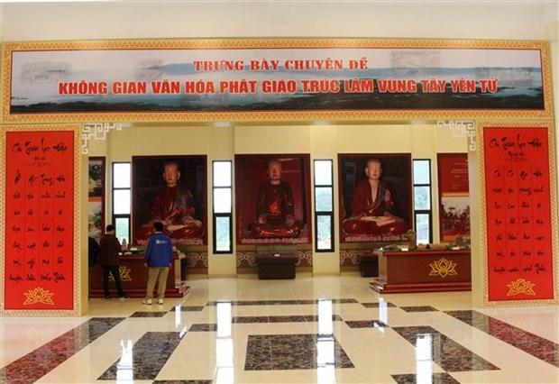 Trung bay khong gian van hoa Phat giao Truc Lam vung Tay Yen Tu hinh anh 2