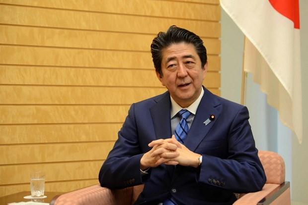 Thu tuong Nhat Ban Shinzo Abe tra loi phong van danh rieng cho TTXVN hinh anh 1