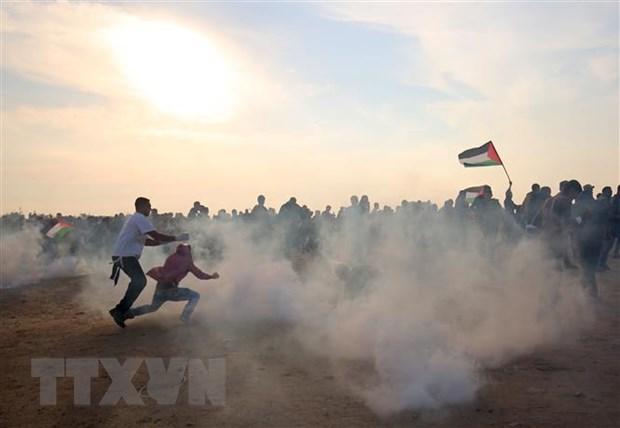 Dung do tai dien tai Gaza lam nhieu nguoi bi thuong hinh anh 1