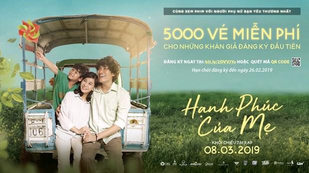 Phat mien phi 5000 ve xem phim 'Hanh phuc cua me' trong dip 8/3 hinh anh 1