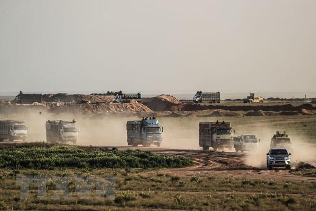 SDF tan cong vao noi co thu cuoi cung cua IS tai Dong Syria hinh anh 1