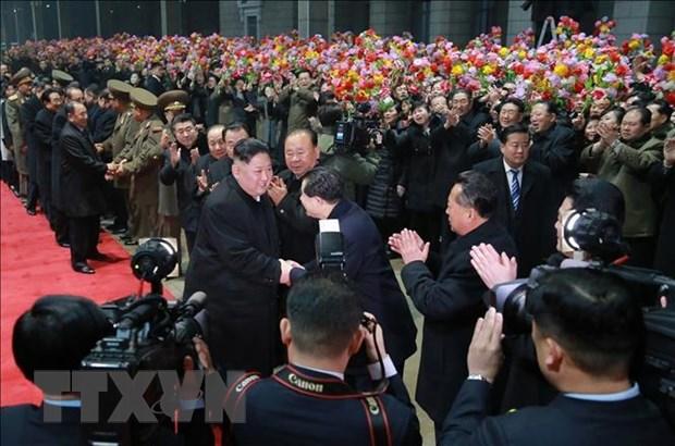 KCNA: Nha lanh dao Trieu Tien Kim Jong-un da tro ve Binh Nhuong hinh anh 2