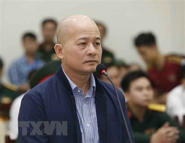 Bị cáo Đinh Ngọc Hệ khai báo tại phiên tòa xét xử phúc thẩm. Ảnh: Doãn Tấn/TTXVN