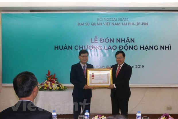 Tap the DSQ Viet Nam tai Philippines don Huan chuong lao dong hang Nhi hinh anh 1