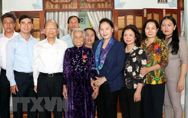 Chu tich Quoc hoi Nguyen Thi Kim Ngan lam viec tai tinh Binh Thuan hinh anh 1