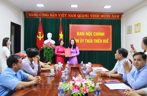 Bo nhiem Pho Truong Ban Noi chinh Tinh uy Thua Thien-Hue qua thi tuyen hinh anh 1