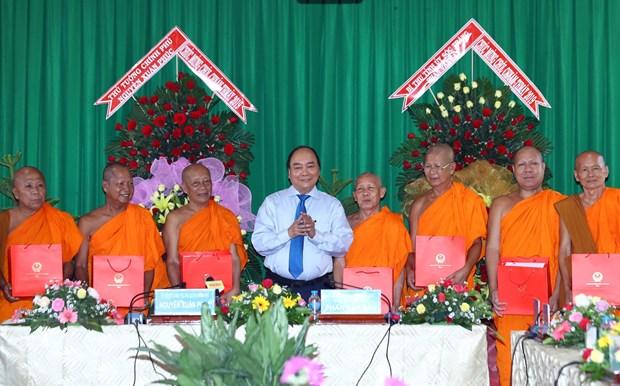 Thu tuong Nguyen Xuan Phuc lam viec voi lanh dao tinh Soc Trang hinh anh 1