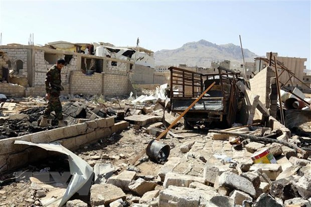 Nhieu dan thuong thuong vong trong vu danh bom tai Yemen hinh anh 1