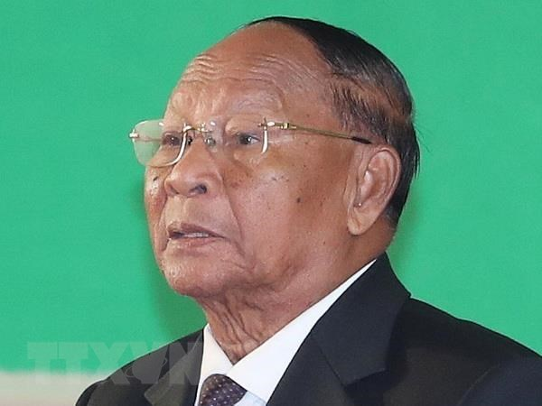 Chu tich Quoc hoi Campuchia bat dau tham chinh thuc Viet Nam hinh anh 1
