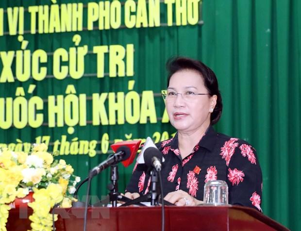 Chu tich Quoc hoi Nguyen Thi Kim Ngan tiep xuc cu tri tai Can Tho hinh anh 1