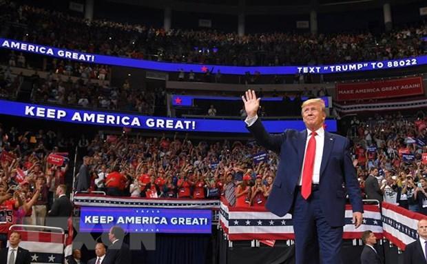 Tong thong My Donald Trump bat dau chien dich van dong tai tranh cu hinh anh 1