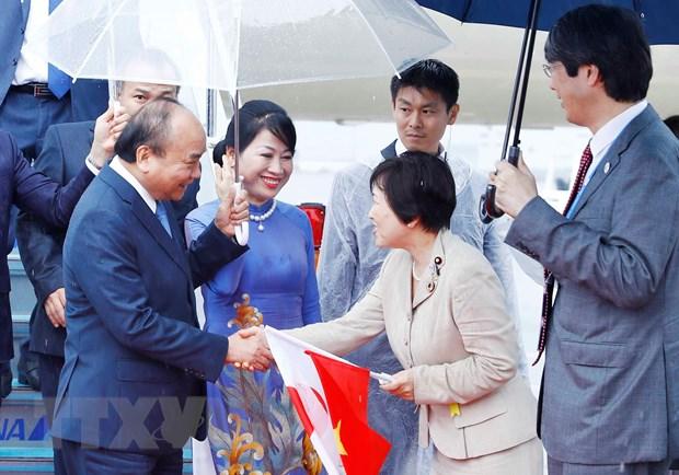 Thu tuong den Osaka, bat dau chuyen tham du Hoi nghi Thuong dinh G20 hinh anh 1