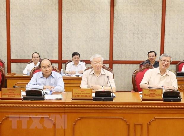 Tổng Bí thư, Chủ tịch nước Nguyễn Phú Trọng phát biểu chỉ đạo cuộc họp. Ảnh: Trí Dũng/TTXVN