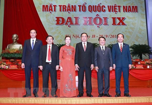 Be mac Dai hoi dai bieu toan quoc Mat tran To quoc Viet Nam lan thu IX hinh anh 1