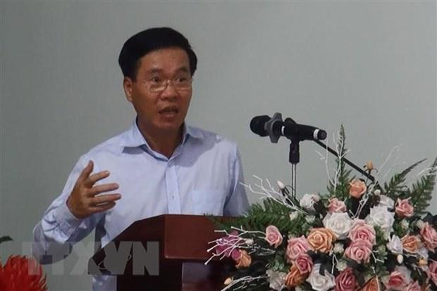 Truong Ban Tuyen giao TW Vo Van Thuong tiep xuc cu tri tai Dong Nai hinh anh 1