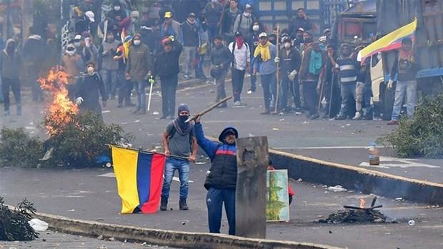 Ecuador: Thu do Quito ban bo tinh trang khan cap do bieu tinh hinh anh 1