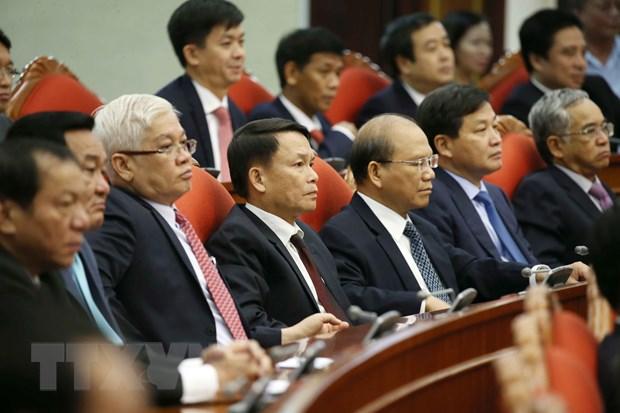 Hinh anh Be mac Hoi nghi lan thu 11 Ban Chap hanh TW Dang khoa XII hinh anh 1