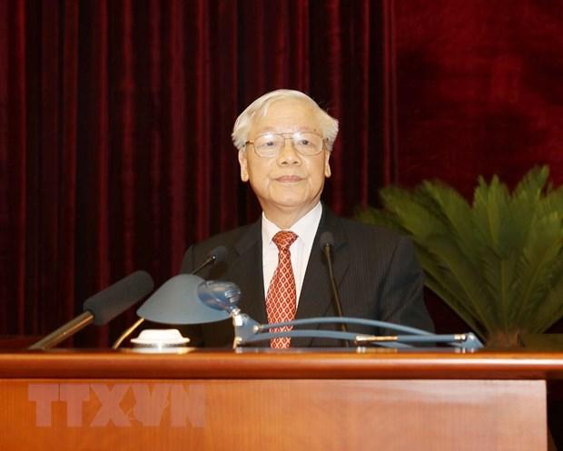 Hinh anh Be mac Hoi nghi lan thu 11 Ban Chap hanh TW Dang khoa XII hinh anh 16