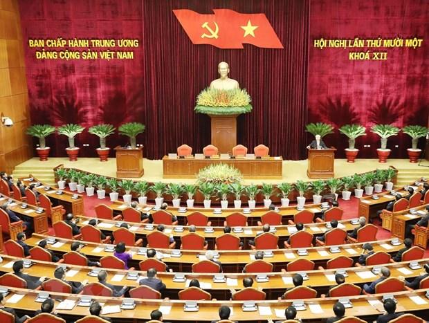 Hinh anh Be mac Hoi nghi lan thu 11 Ban Chap hanh TW Dang khoa XII hinh anh 20