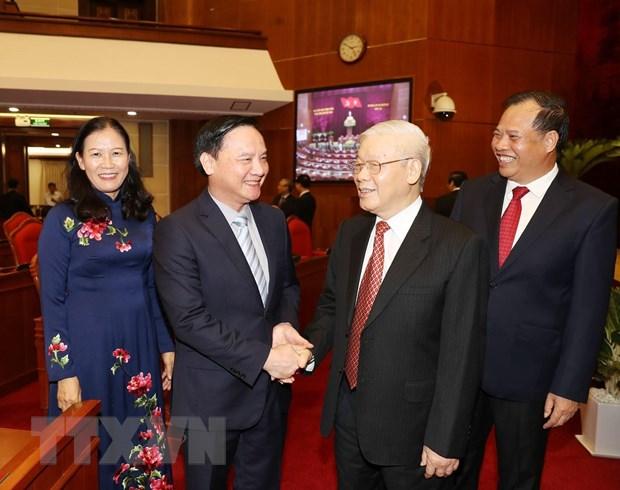 Hinh anh Be mac Hoi nghi lan thu 11 Ban Chap hanh TW Dang khoa XII hinh anh 22