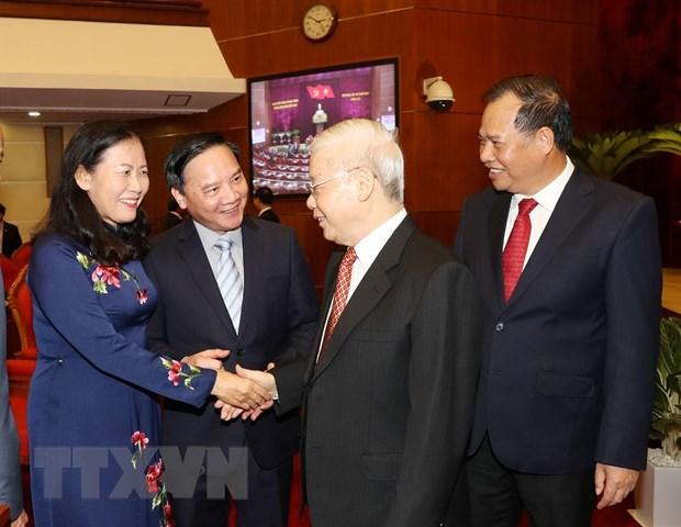 Hinh anh Be mac Hoi nghi lan thu 11 Ban Chap hanh TW Dang khoa XII hinh anh 23