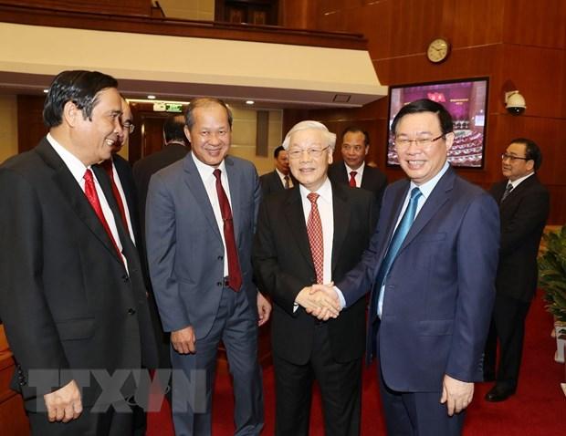 Hinh anh Be mac Hoi nghi lan thu 11 Ban Chap hanh TW Dang khoa XII hinh anh 24