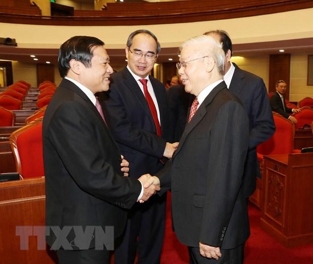 Hinh anh Be mac Hoi nghi lan thu 11 Ban Chap hanh TW Dang khoa XII hinh anh 25