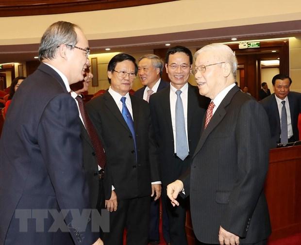 Hinh anh Be mac Hoi nghi lan thu 11 Ban Chap hanh TW Dang khoa XII hinh anh 26