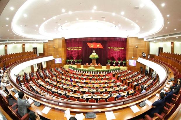 Hinh anh Be mac Hoi nghi lan thu 11 Ban Chap hanh TW Dang khoa XII hinh anh 28