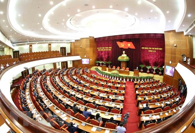 Hinh anh Be mac Hoi nghi lan thu 11 Ban Chap hanh TW Dang khoa XII hinh anh 29