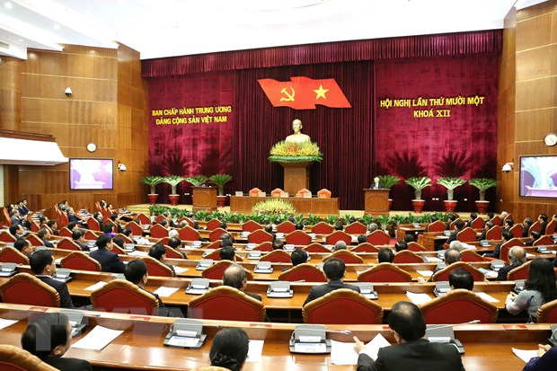 Hinh anh Be mac Hoi nghi lan thu 11 Ban Chap hanh TW Dang khoa XII hinh anh 5