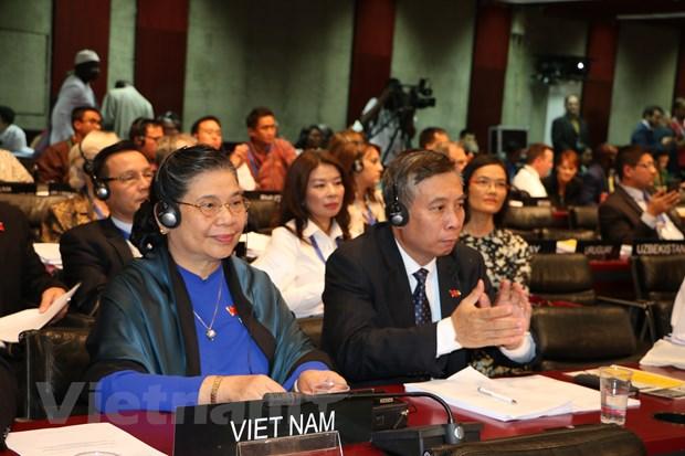 Pho Chu tich Quoc hoi Tong Thi Phong du be mac Dai hoi dong IPU-141 hinh anh 1