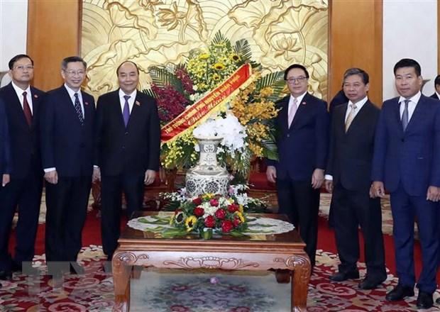 Thu tuong Nguyen Xuan Phuc chuc mung Ban Doi ngoai TW Dang hinh anh 1