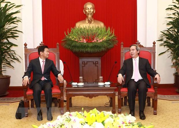 Truong ban Kinh te Trung uong tiep cac giam doc dieu hanh IFC va ADB hinh anh 2