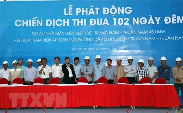 102 ngay thuc hien du an nha may dien Mat Troi Trung Nam-Thuan Nam hinh anh 1