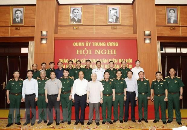 Cho y kien ve du thao van kien Dai hoi Dang bo Quan doi lan thu XI hinh anh 1