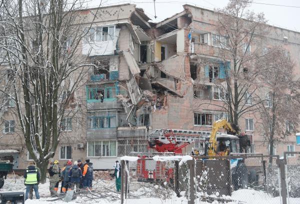 Ukraine: No khi gas tai mot chung cu o Kiev, nhieu nguoi bi mac ket hinh anh 1