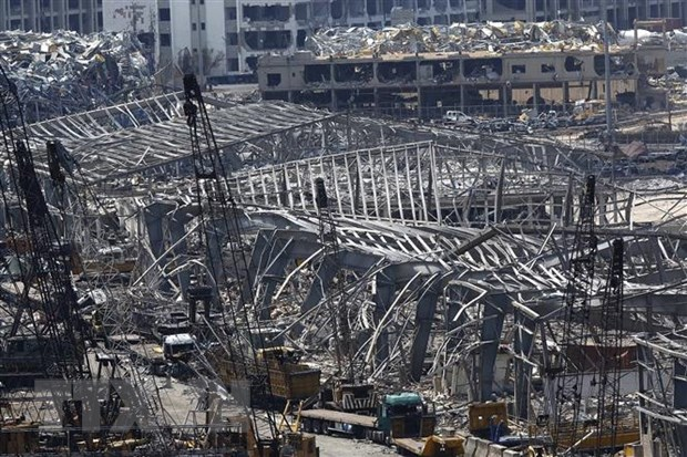Vu no o Beirut: Thu don luong vat lieu tuong duong voi thap Eiffel hinh anh 1