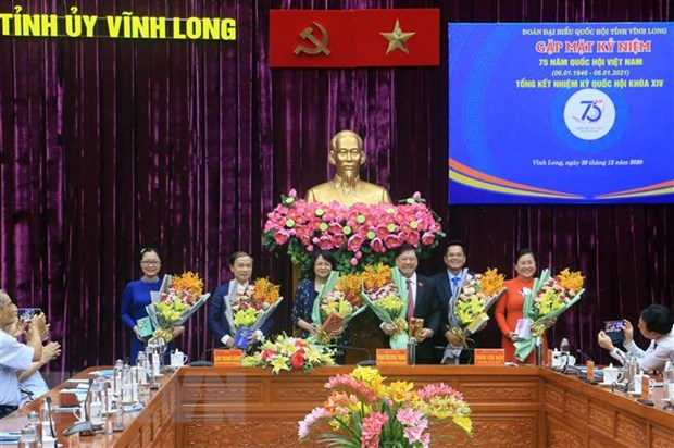 Ky niem 75 nam Ngay Tong tuyen cu dau tien bau Quoc hoi tai Vinh Long hinh anh 1