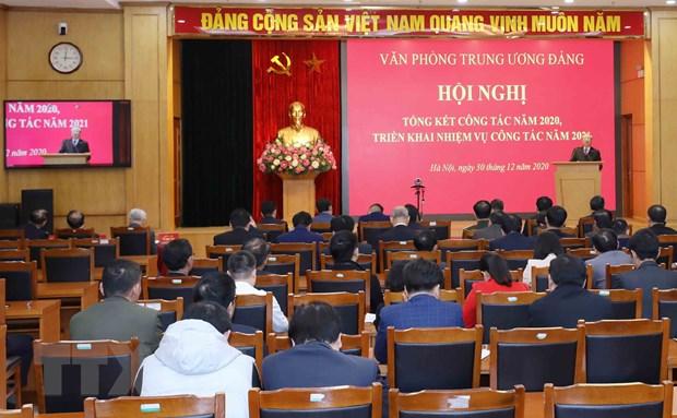 Van phong Trung uong Dang trien khai nhiem vu cong tac nam 2021 hinh anh 1