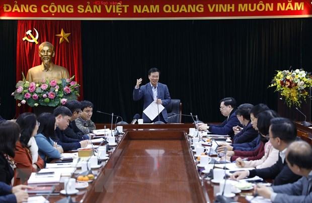 Khai truong Trung tam Bao chi phuc vu Dai hoi XIII vao ngay 22/1 hinh anh 1
