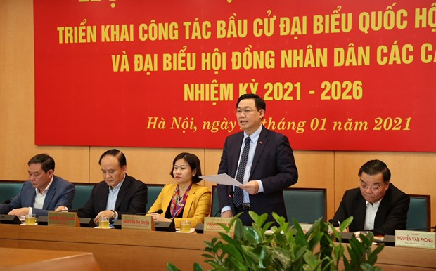 Bi thu Thanh uy Ha Noi: Ngay bau cu phai la ngay hoi cua toan dan hinh anh 1