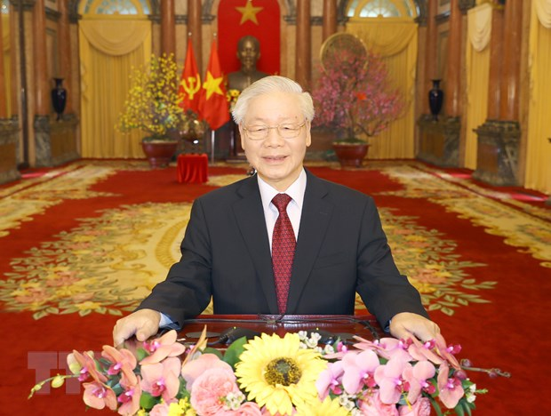 Thu va dien chuc mung Tong Bi thu, Chu tich nuoc Nguyen Phu Trong hinh anh 1