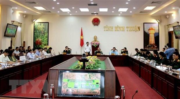Bo Quoc phong lam viec tai Binh Thuan ve du an san bay Phan Thiet hinh anh 1