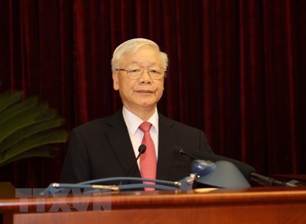 Khai mac trong the Hoi nghi lan thu 2 BCH Trung uong Dang khoa XIII hinh anh 1